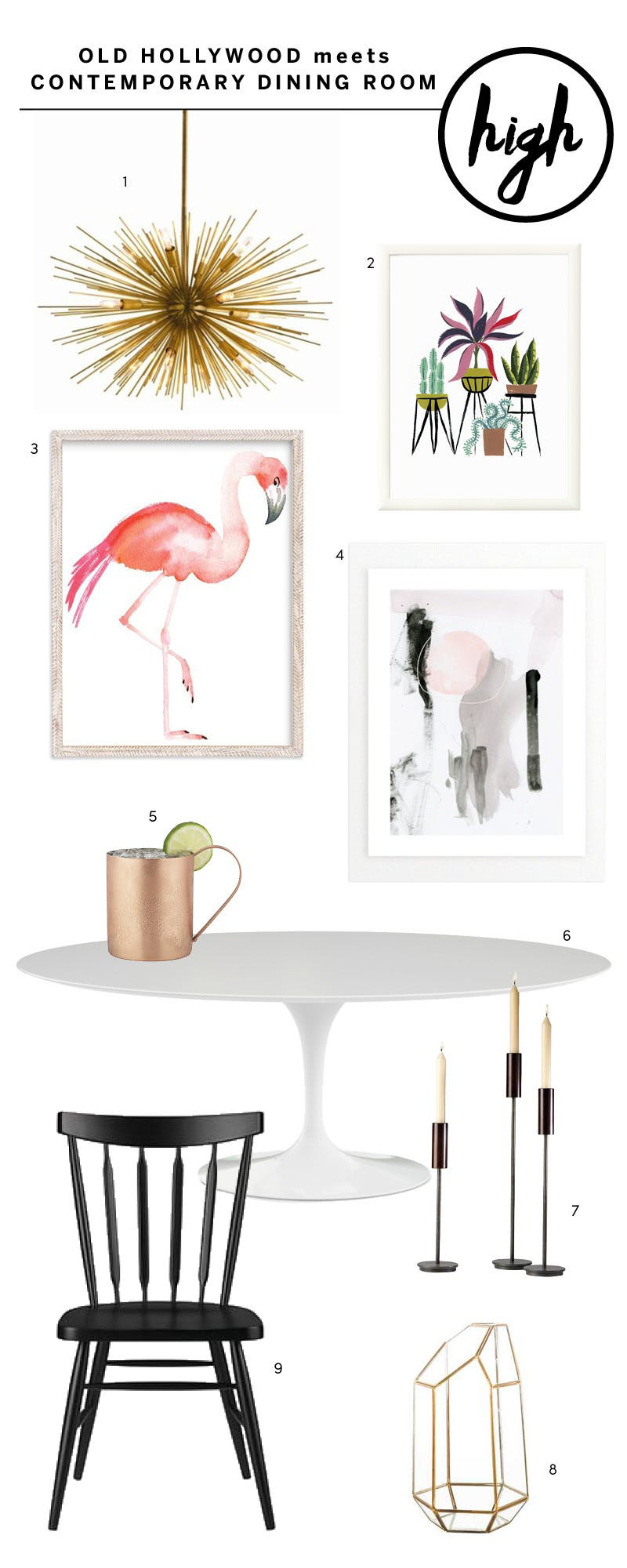 High Low Dining Room - Get the Look