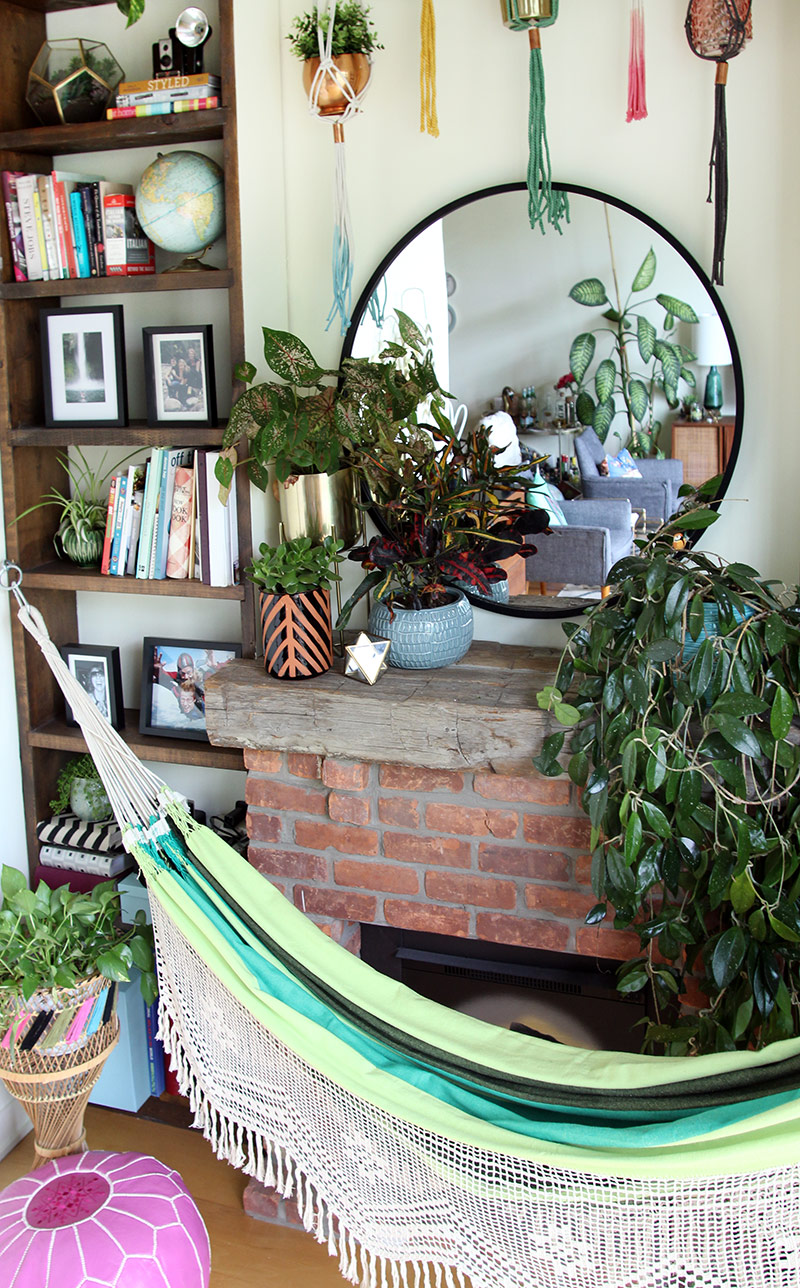 Boho Loft Wall Makeover by The Sweet Escape