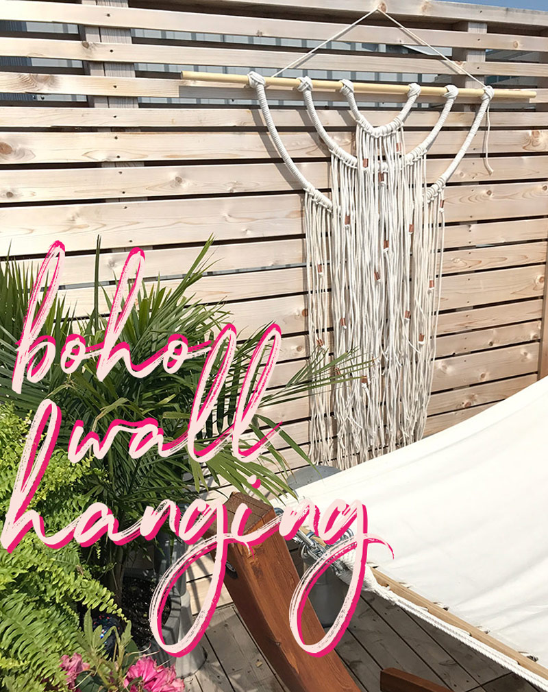 DIY Outdoor Boho Wall Hanging By The Sweet Escape