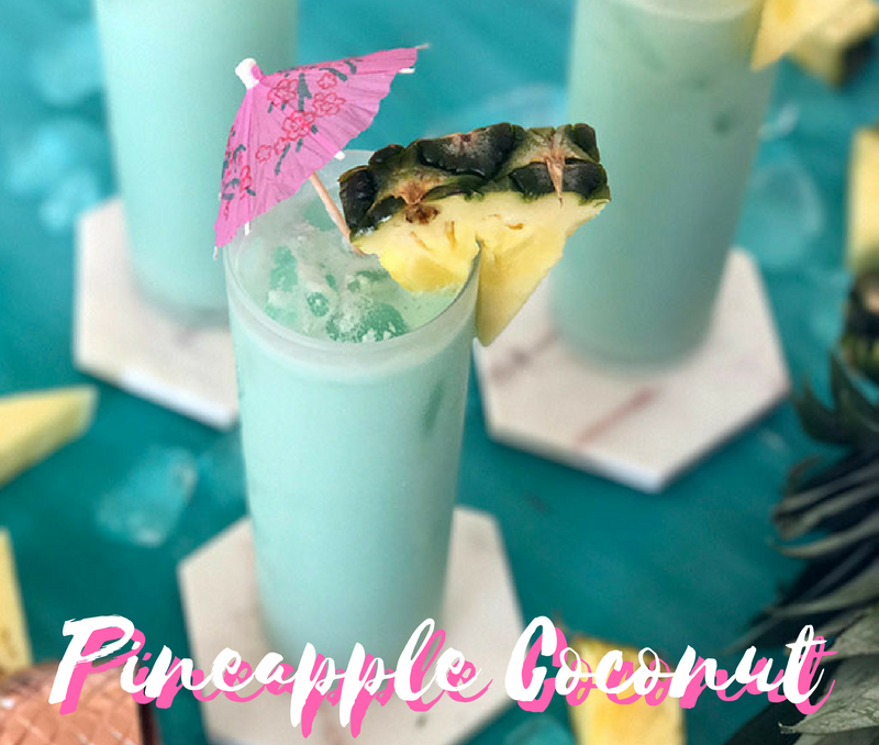 Tropical Blue Pineapple Coconut Cocktail Recipe