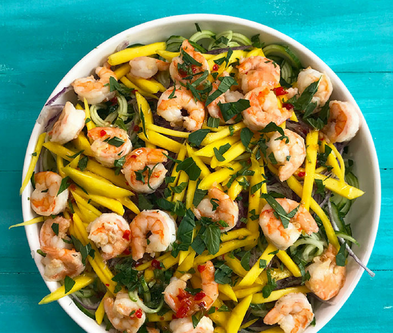 Cucumber Mango Shrimp Salad Recipe