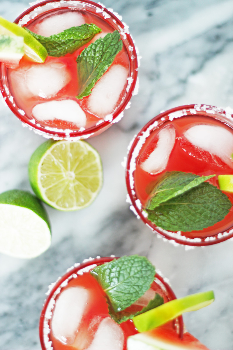 watermelon margarita summer cocktail recipe
