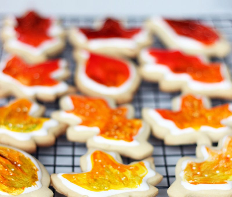 Fall Colour Cookies