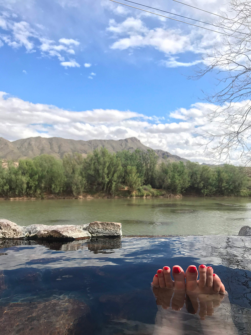 Riverbed Hot springs Truth or Consequence New Mexico by The Sweet Escape